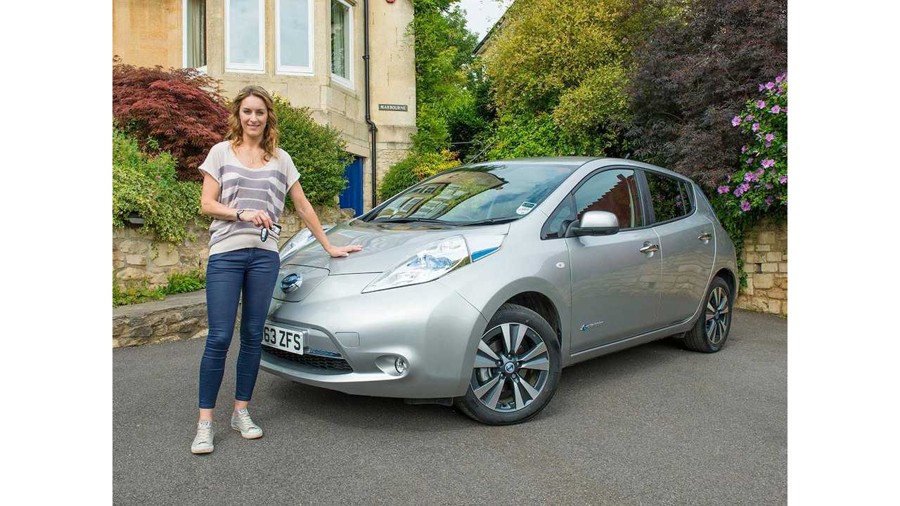 Olympic Gold Medalist Tests Nissan LEAF For 6 Weeks Under UK's Go Ultra Low Campaign - Video