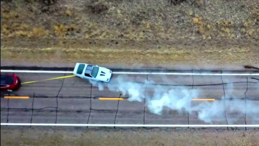 Watch A Tesla Model X Tug A Chevy Camaro Around With Ease