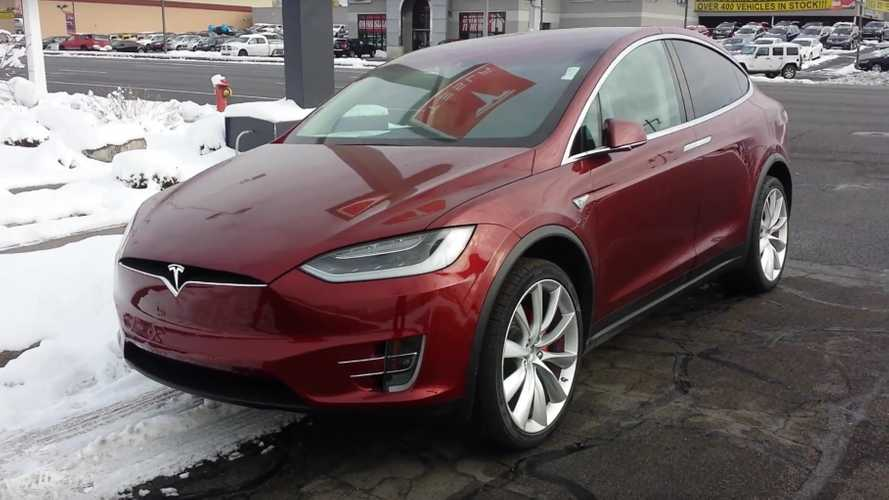 Red Tesla Model X Delivery Video