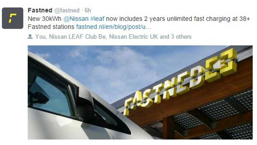 FastNed Offers Unlimited Free Charging For 2 Years With Purchase Of New Nissan LEAF