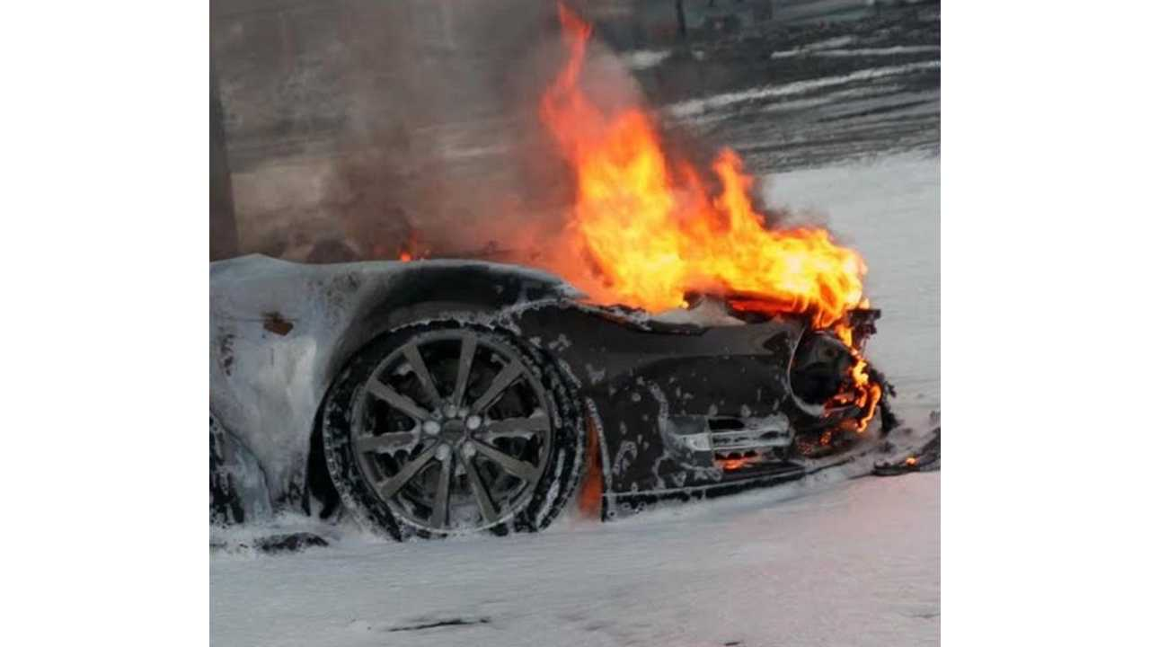 UPDATE: Tesla Model S Catches Fire, Burns To Nothing While Supercharging In Norway
