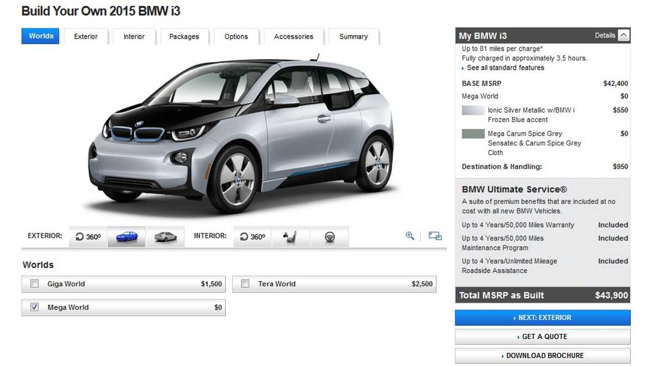 2015 BMW i3 Gets $1,000 Price Increase, Now Comes Standard With CCS Fast Charge, Heated Seats
