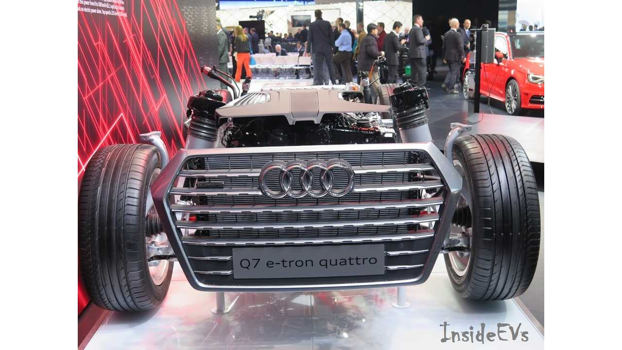 Who Brings Just A Cutaway To An Auto Show? Audi Does With The Q7 e-Tron Quattro