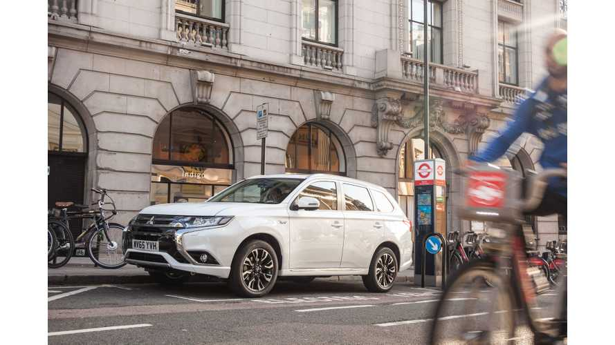 Refreshed 2016 Mitsubishi Outlander PHEV Unveiled For Europe By Mayor Of London (w/videos)
