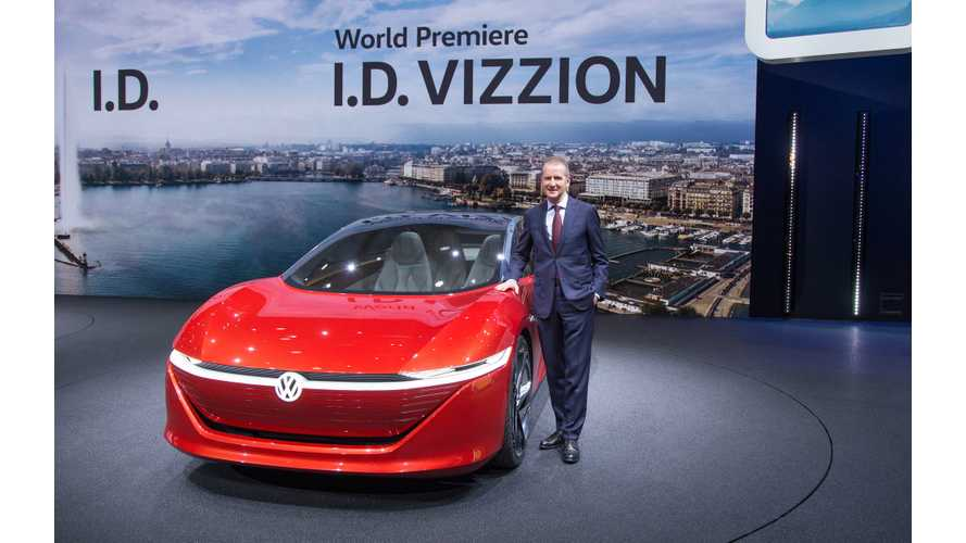 Volkswagen I.D. VIZZION In Geneva - More Photos & Videos