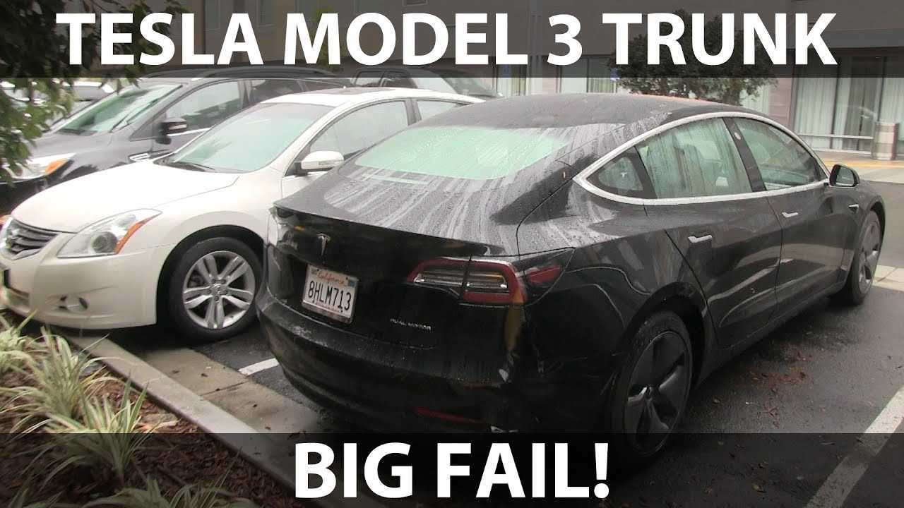 Opening Tesla Model 3 Trunk In Rain Is Not Advised: Video