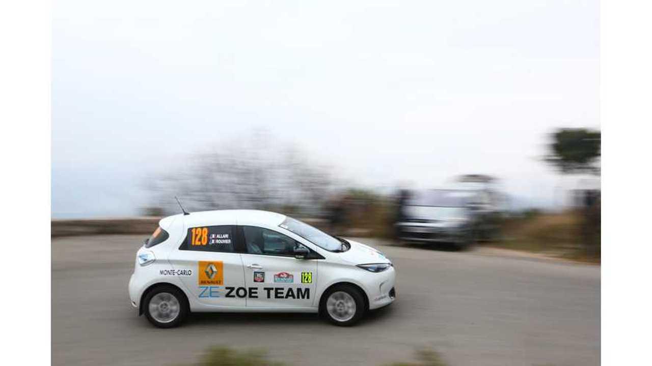 New Renault ZOE 40 Competing In e-Rallye Monte-Carlo - Video
