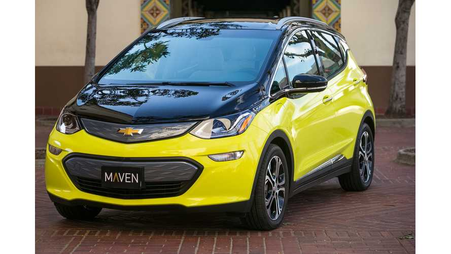 Now You Can Rent A Chevrolet Bolt For $229 Per Week