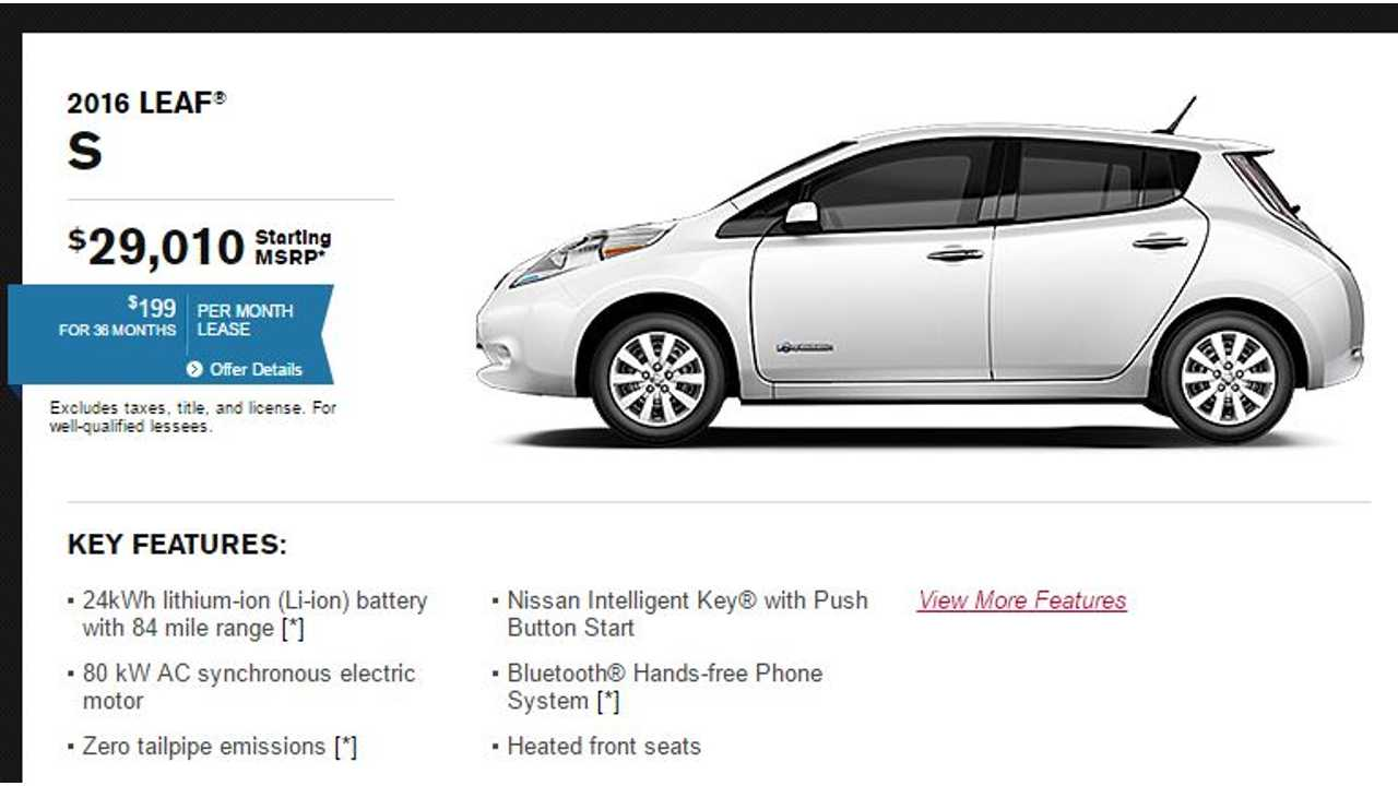 Nissan's Site Still Lists The