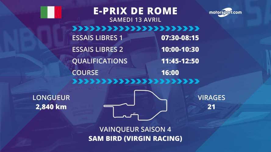 E-Prix de Rome : programme et diffusions TV