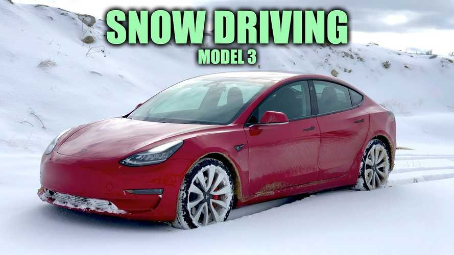 Tesla Model 3 Snow Driving Explored By Engineering Explained: Video