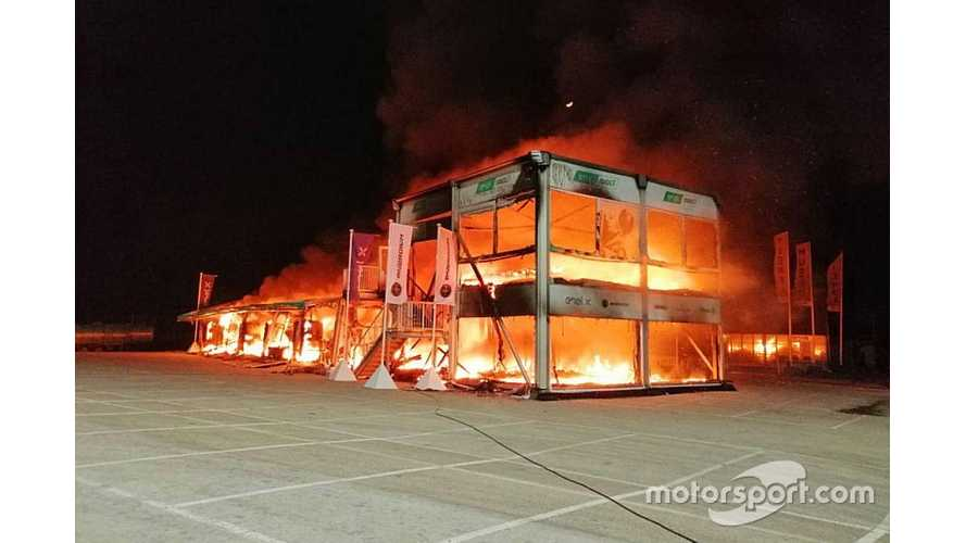 18 Electric Motorcycles For MotoE Go Up In Flames