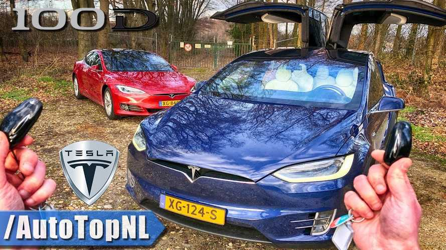 Tesla Model S 100D Vs Model X 100D Autobahn POV Test & Review