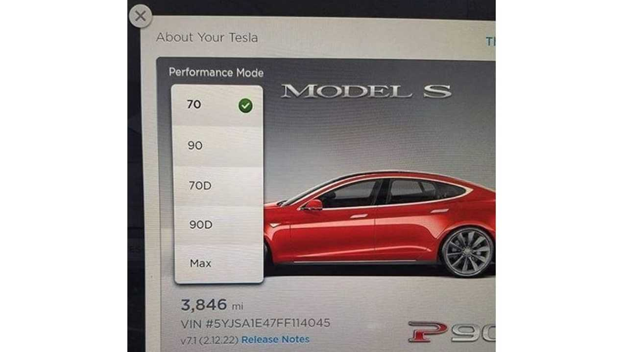 Own A Tesla Model S 90D, But Want To Test A 70D? Now You Can By Entering A Code Into Your Tesla