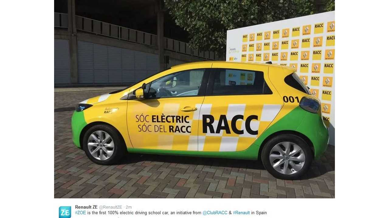 Renault ZOE Becomes First Pure Electric Driver's Ed Car