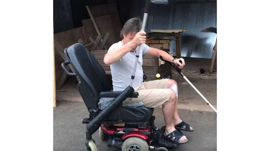 Richard Hammond Shows Off His Twin-Crutch EV - Video
