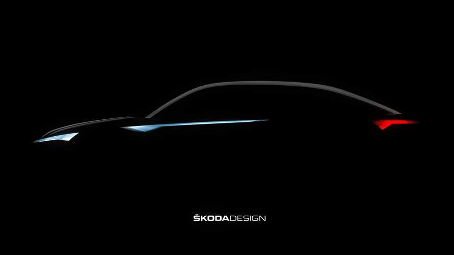 Skoda Vision E Teased Ahead Of Shanghai Reveal