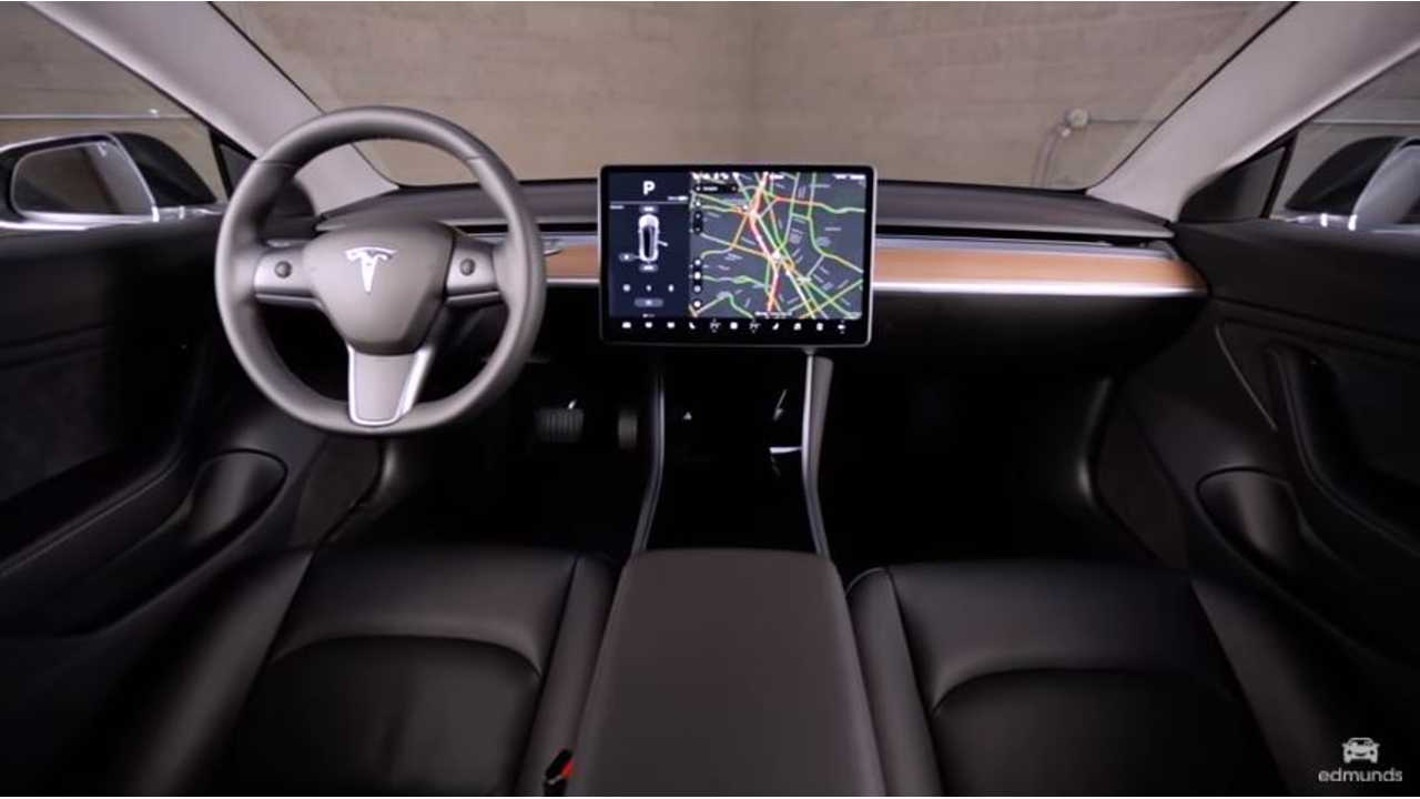 Tesla Model 3 interior edmunds
