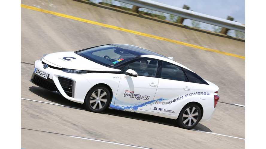 Toyota Mirai Sales In U.S. Hits Milestone Of 250. Hyundai Tucson Fuel Cell Exceeds 100