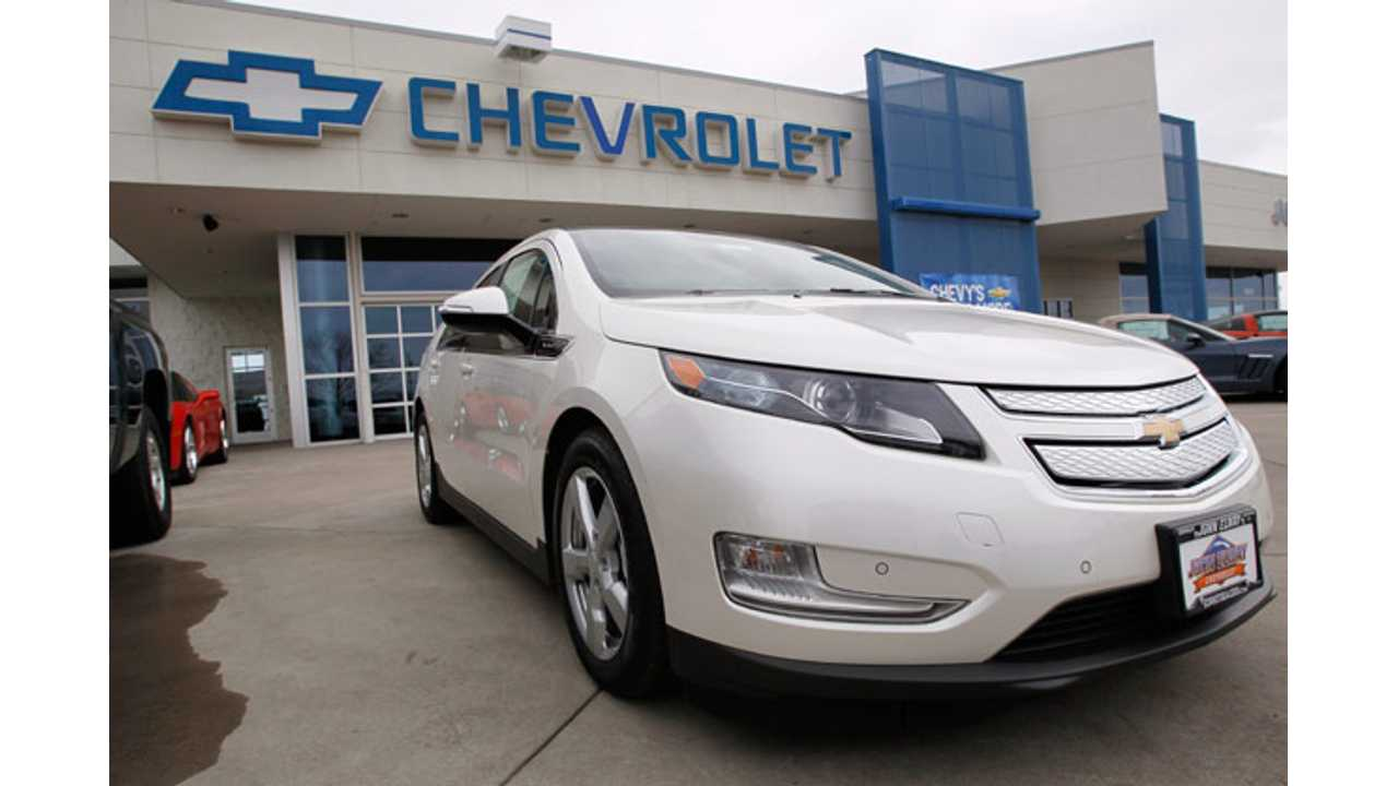 Some Dealers Get It - Like This One Who Displays The Chevy Volt Prominently