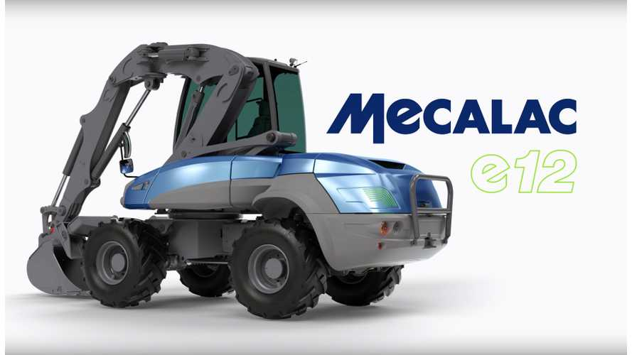 Compact Electric Excavator Becomes Reality: World's First