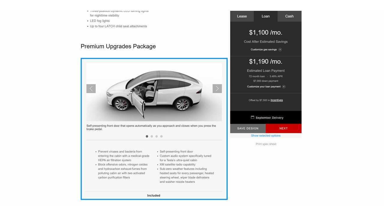 Tesla Model X Premium Upgrades Package 1