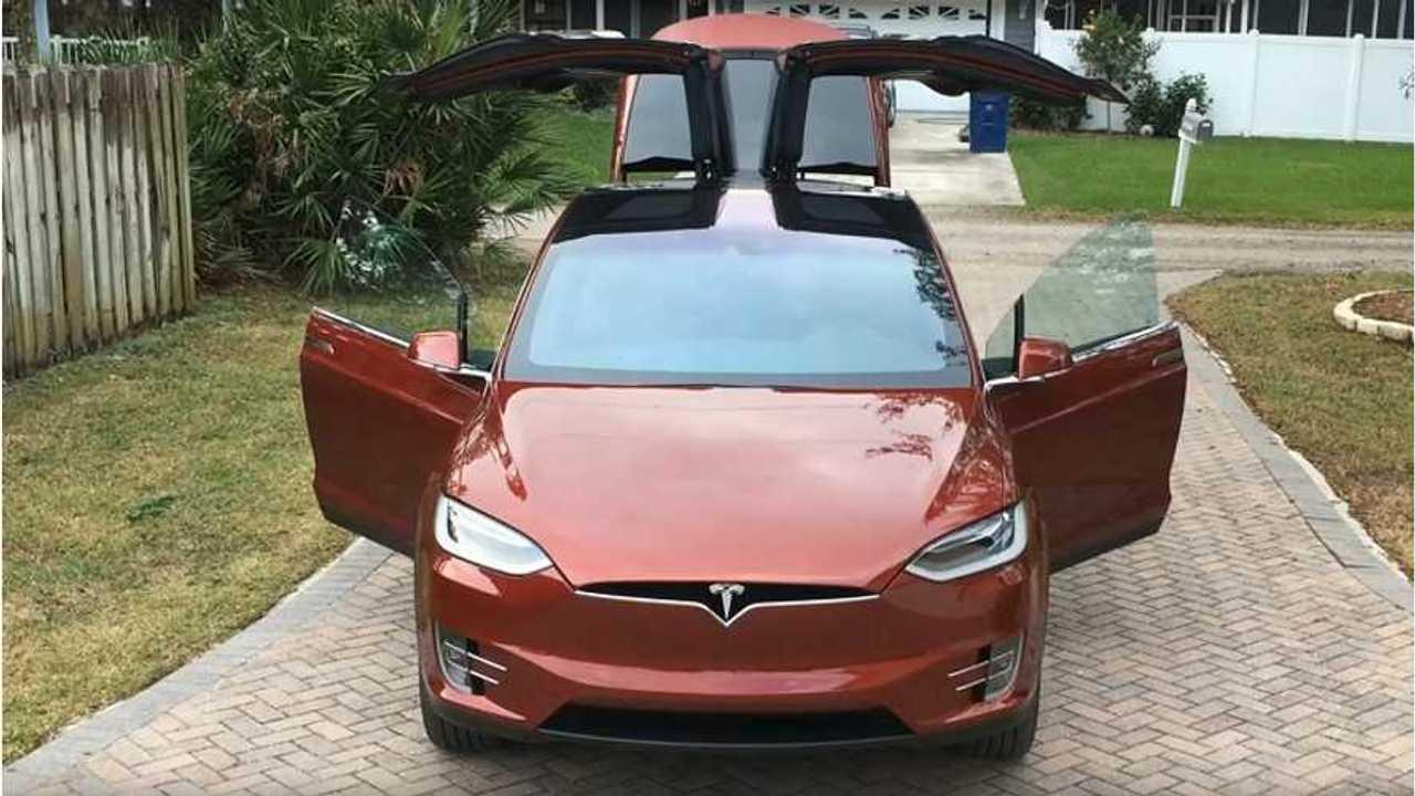 Tesla Model X - all doors open