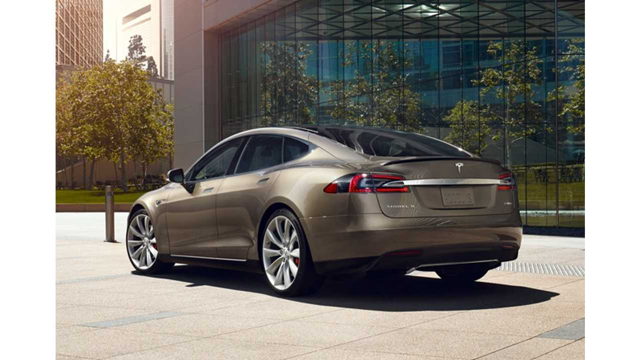 Tesla Model S Charged By A Waterfall - Video