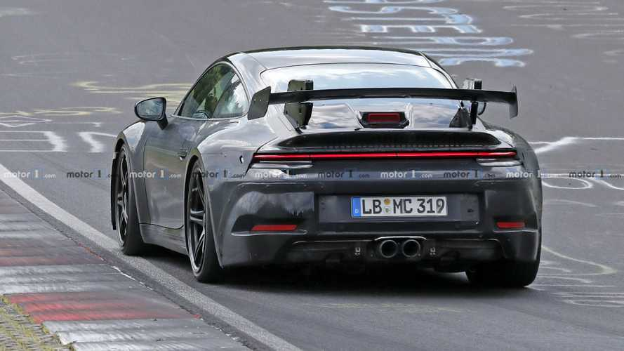 New Porsche 911 GT3 Caught With Chunky Rear Wing