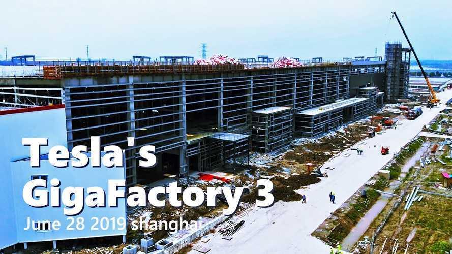 Tesla Gigafactory 3 Construction Progress June 28, 2019: Video