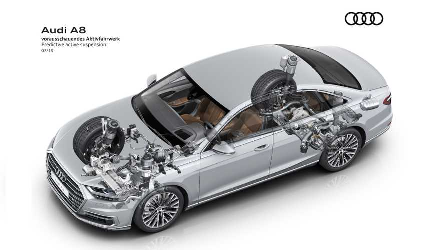 Audi A8 with predictive active suspension