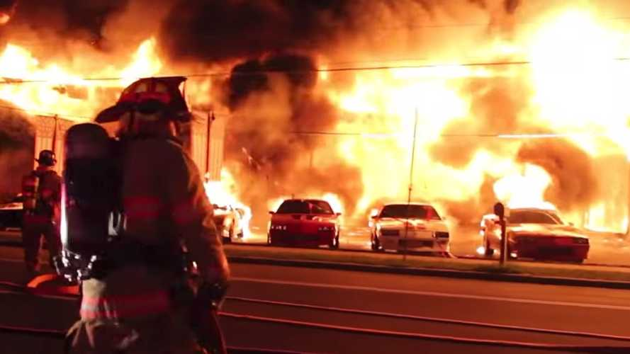 Over A Dozen Classic Chevy Camaros, Corvettes Engulfed By Flames