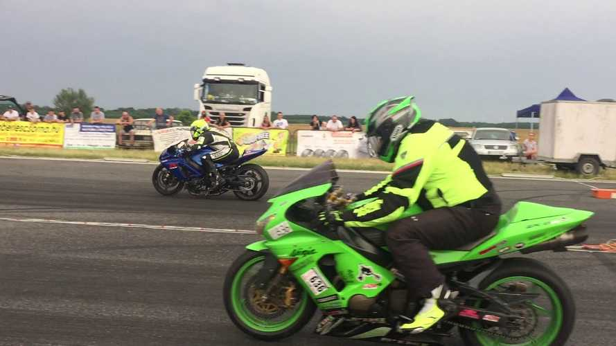 GSX-R1000 vs. Ninja ZX-6R: Guess Who Wins?