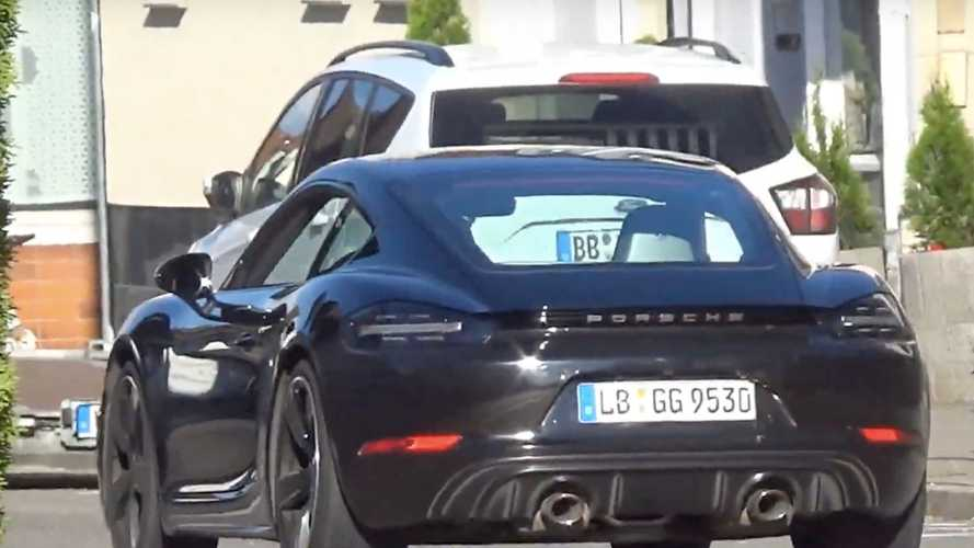Porsche 718 Cayman facelift, 718 Cayman GT4 spied undisguised