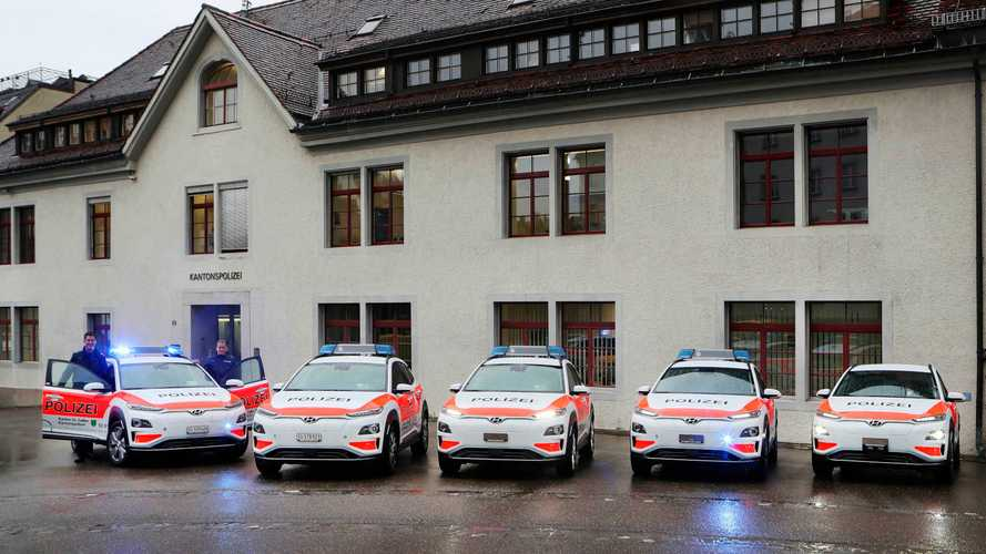 Swiss Police Purchase Fleet Of 13 Hyundai Kona Electric