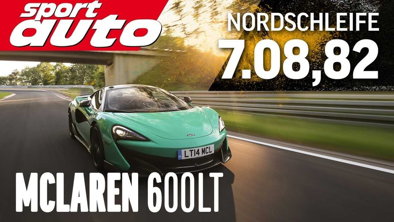 McLaren 600LT laps the Nurburgring