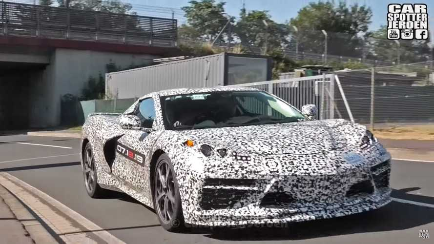 C8 Corvette Spied Again Showing Clean Lines Beneath Its Camo Wrap