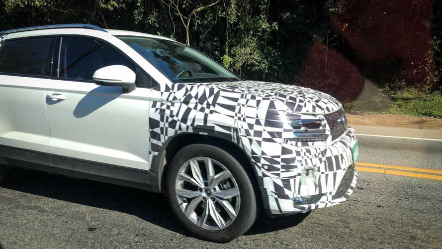Volkswagen Tarek Crossover Spied Testing In South America