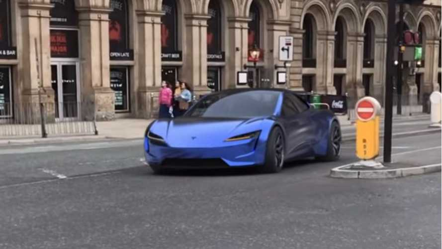 New Tesla Roadster hits London streets in simulated reality video