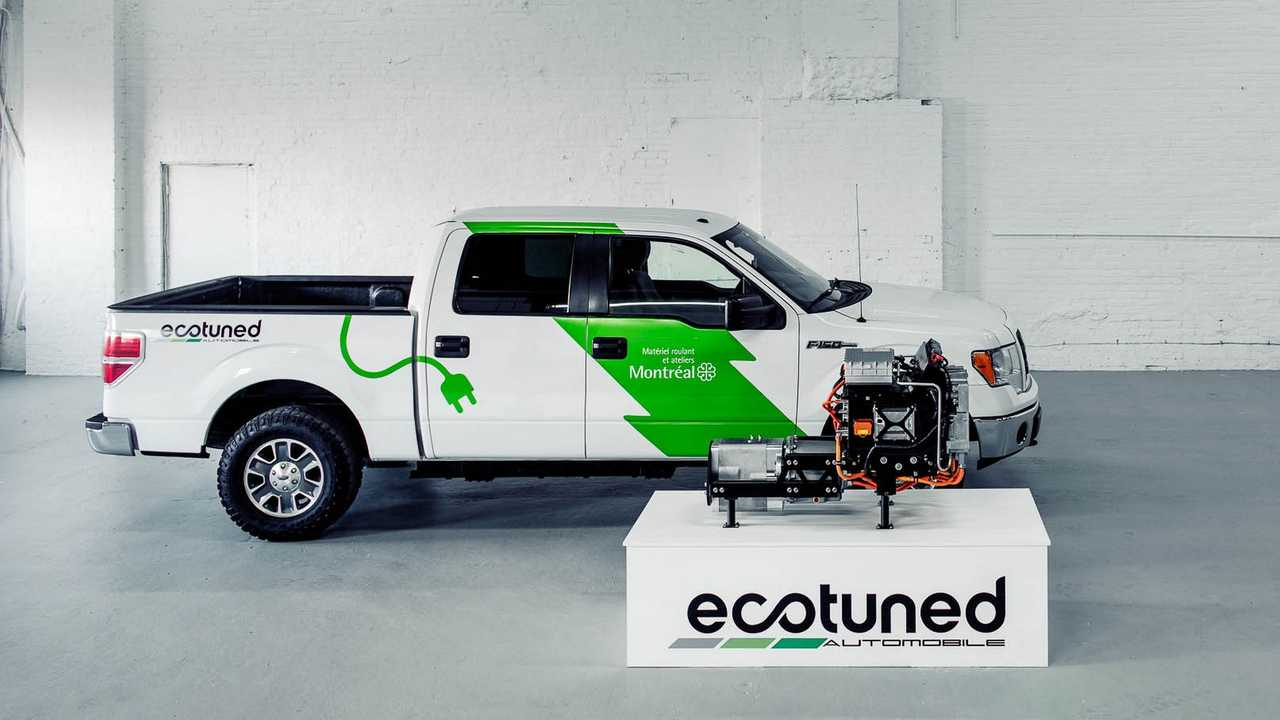 Ecotuned Electric F-150 Is A Tired Truck Put To Work Again As An EV
