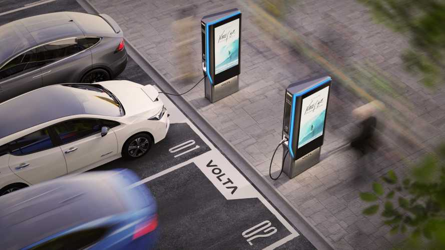 Volta Unveils New Stylish Charging Station With Ad Displays