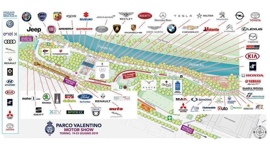 Parco Valentino, la mappa per visitare l'edizione 2019