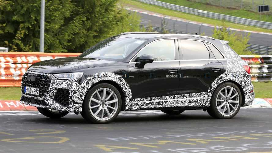 2020 Audi RS Q3 spotted with wide body at the Nurburgring