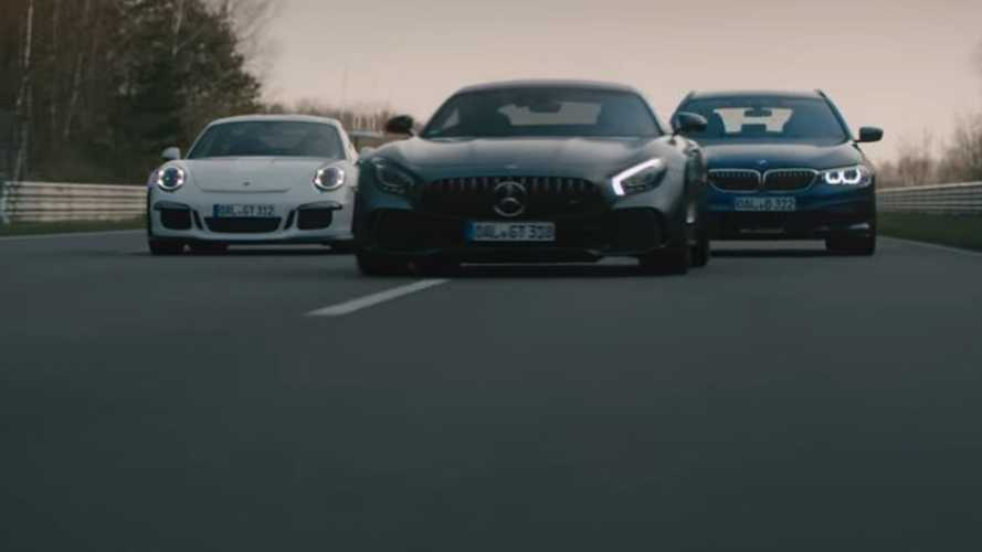 Alpina B5 Bi-Turbo Touring trolls Porsche, AMG in new ad