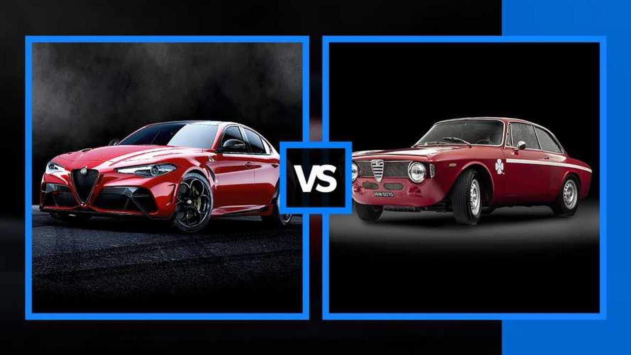 Alfa Romeo GIULIA GTA, régi, új összehasonlítani