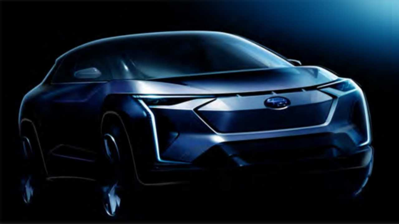 Subaru EV teaser sketche