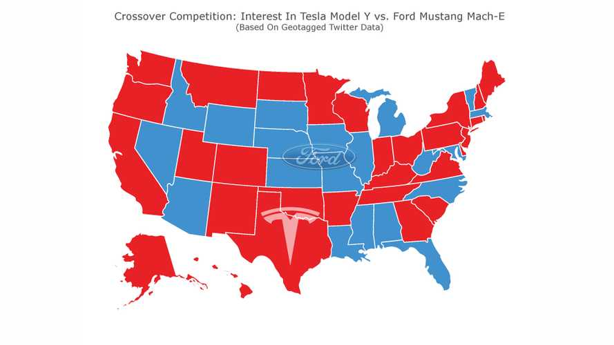 Map Shows Ford Mustang Mach-E May Make Tesla Model Y's Life Harder