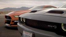 Shelby GT500 Vs Challenger Hellcat ecco la drag race