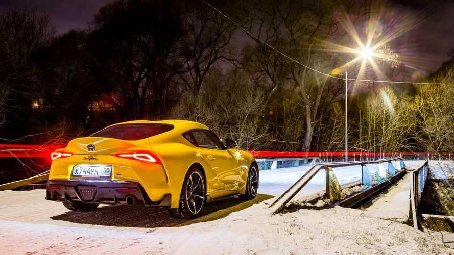 Toyota GR Supra и русская зима