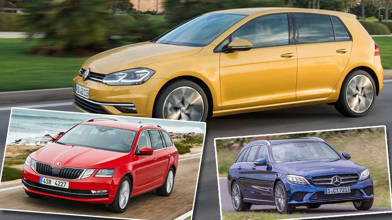 Die 10 meistzugelassenen Autos in D 2019